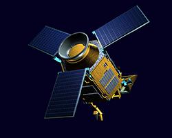Sentinel-5 precursor flying Tropomi, Credit: ESA